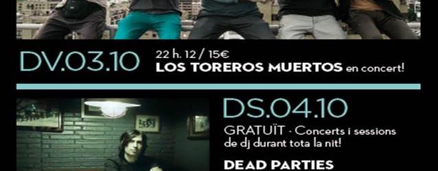 Los Toreros Muertos obren aquest divendres una intensa nova temporada musical a la Sala Zero