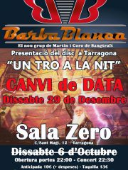 BARBABLANCA – CANVI DE DATA 29/12-