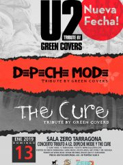 GREEN COVERS TRIBUTE – U2, THE CURE y DEPECHE MODE !! NUEVA FECHA!!
